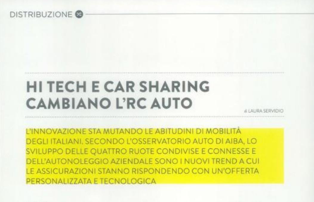 Hitech e car sharing cambiano l'rc auto