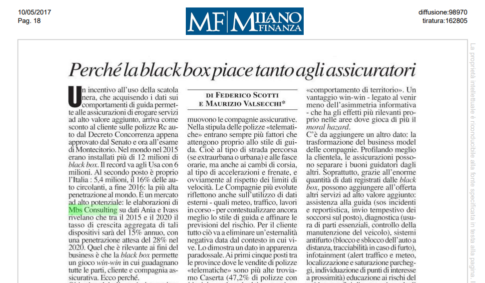importanza black box per compagnie assicurative