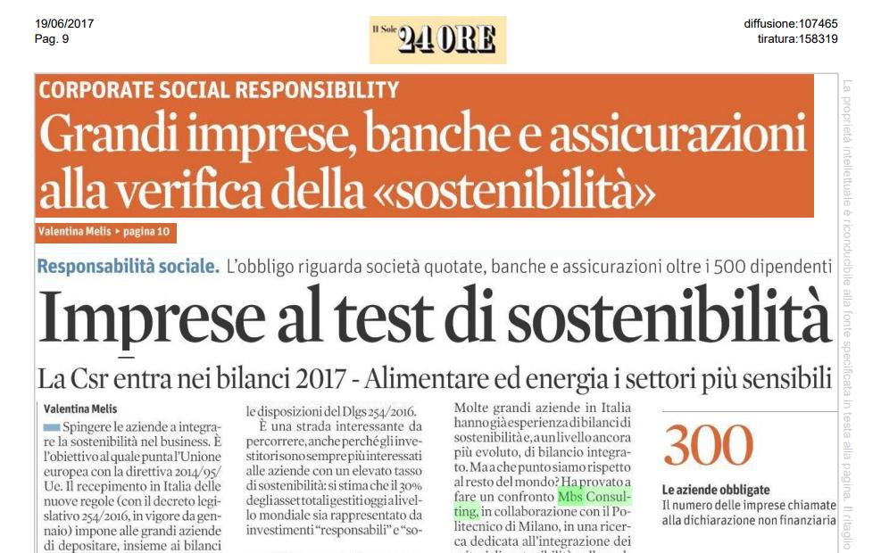 imprese al test di sostenibilità